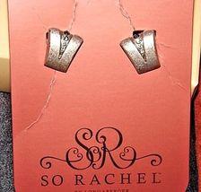 So Rachel by Longaberger Studded EarringsAA18-1273-B Vintage #23393 image 3