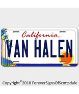 Van Halen Rock Band California Aluminum Vanity License Plate White - $12.82
