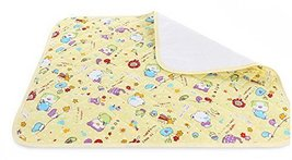 Toddler Waterproof Washable Diaper Changing Mat Pad(Yellow Bear)-75120cm