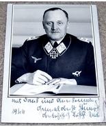 ORIGINAL WW2 GERMAN PHOTO: GENERALOBERST HANS-JURGEN STUMPF - $25.00