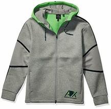 A|X Armani Exchange Men's Hooded Zip up Sweatshirt, BROS BC09 Outs/C. GR, M - $74.24