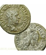 PHILIP I Tetradrachm Ancient Roman Empire Coin. Eagle SC Scarce Prieur 448 - $170.10