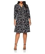 Anne Klein Dress Twist Front 3/4 Sleeve Multicolor Black Blue Sz 1X Plus... - $39.99