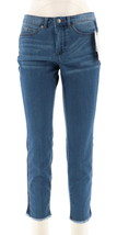 Women with Control MyWonder Denim Ankle Jeans Contrast Mid Blue 20P NEW ... - $35.62