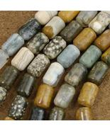 Picture Jasper Tube Beads 10mm by 15mm - $44.97