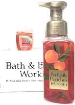Bath and Body Works Perfectly Peaches & Cream Hand Soap & PocketBac Reti... - $20.22