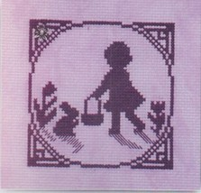 Easter Egg Hunt with charm cross stitch chart Handblessings - $5.00