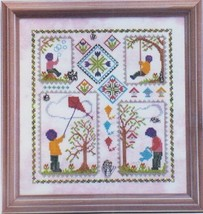 Spring Quilt with charm cross stitch chart Handblessings - $14.00