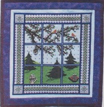 Spring Window Quilt with charms cross stitch chart Handblessings - $13.50