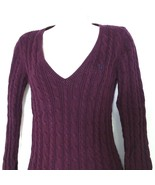 American Eagle Outfitters AEO V-neck Pullover Cable Knit Sweater Size L ... - $12.86