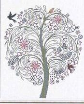 Albero Della Serenita (AAN190) cross stitch chart Alessandra Adelaide Needlework - $16.20