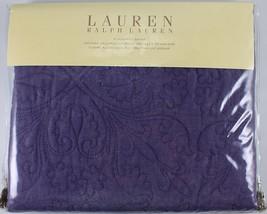 Ralph Lauren Linen Collection SET/2 Standard Sham Plum LINEN BLEND EMBRO... - $194.70