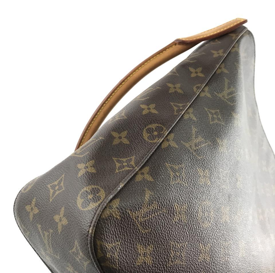 #33576 Louis Vuitton Looping Bucket Gm Tote Brown Monogram Canvas Shoulder Bag image 11
