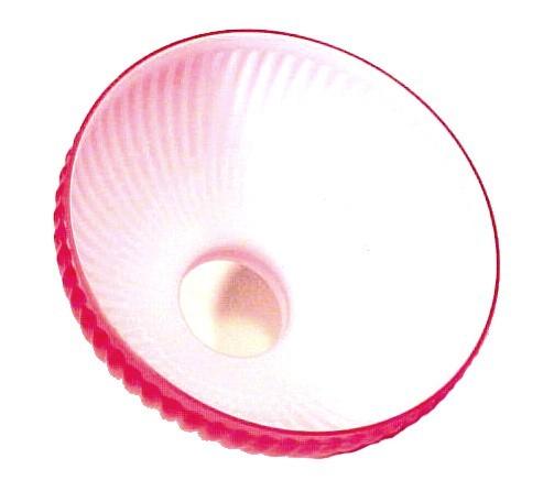 """Red Cased Glass 10"""" Student Lamp Shade Kerosene Oil Desk Table Hanging Aladdin"""