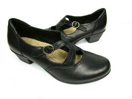 Earth Origins Womens 8.5M Melody Clogs Mary Jane Shoes Black Leather Com... - $30.00