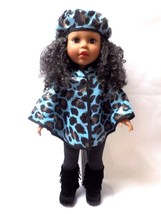 """18"""" Poncho Cape to fit American Girl, My Life, Our Generation - Blue Spo... - $12.99"""