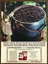 1973 Kraft Blackberry Jelly PRINT AD Get Dew-Spangled Freshness - $10.89