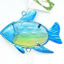 Metal & Glass Blue Green Fish Coastal Beach Ocean Marine Suncatcher Ornament image 4