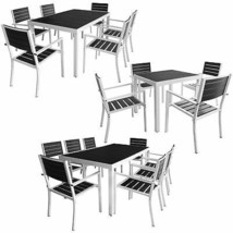 vidaXL 5/7/9 Piece Outdoor Dining Set Aluminum WPC Patio Garden Table & ... - $611.99+