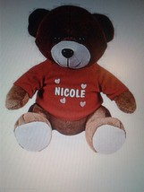 VALENTINE'S DAY PLUSH 8-IN BEAR W/ FREE PERSONALIZED T-SHIRT UP TO 8 LET... - $24.00