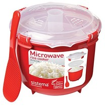 Sistema Microwave Collection Rice Cooker, 87.2 oz./2.6 L, Red - $16.63