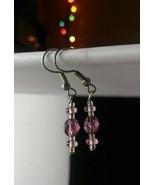 Handmade Purple Dangle Earrings - New - $8.99