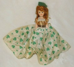 Vintage Handmade doll curly red hair brown blinky open shut eyes jointed... - $23.50