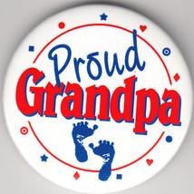 """Proud Grandpa Birth Announcement Button Pin, 2"""" x 2"""", New, Pin Back - $4.99"""