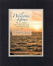Welcome Home . . . 8 x 10 Inches Biblical/Religious Verses set in Double... - $11.14