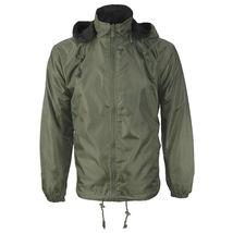 Men's Water Resistant Polar Fleece Lined Hooded Windbreaker Rain Jacket image 10
