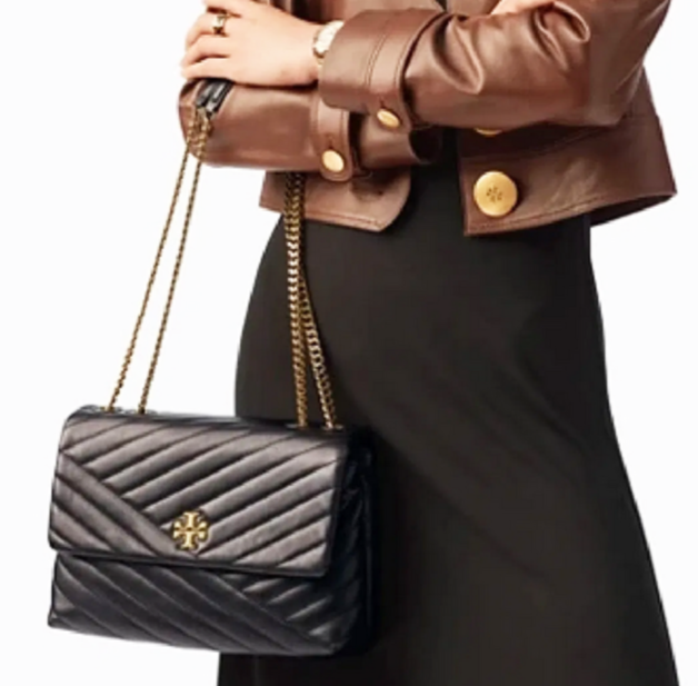 Tory Burch Kira Chevron Quilted Leather Shoulder Bag in Black image 2