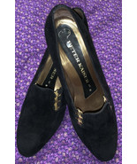 PETER KAISER Black Suede Kitten Heels Womens Shoes  6W Made In Germany - $29.08