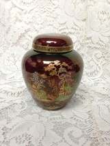 Vintage Crown Devon England Variant Polychrome Blue Willow 5inx4in Tea Jar - $75.95