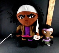 Lot of 2 The Walking Dead Plush Michonne Funco Mopeez & Peek a Boo Toy D... - $15.14