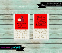 Ladybug Baby Shower Party Tic Tac Candy Mints Mint Labels Favor Favors P... - $3.50