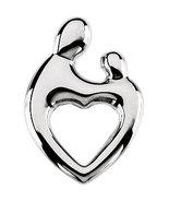 14K White Gold Mother & Child Heart Pendant - $190.99