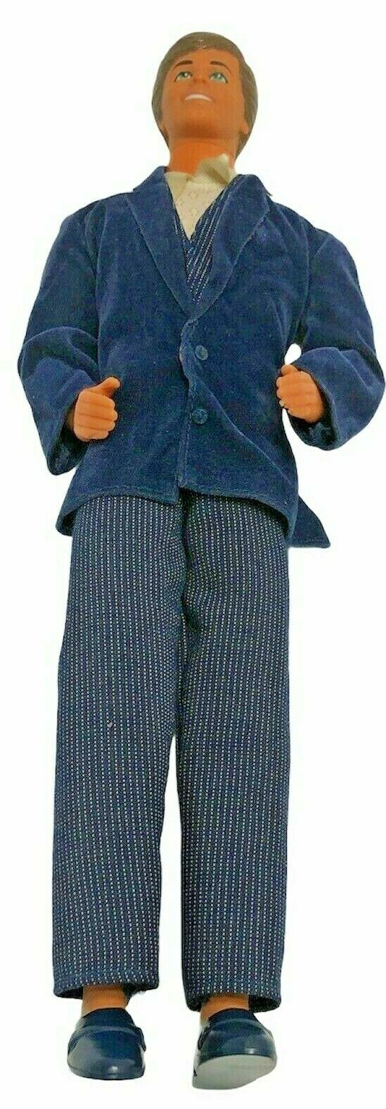 Mattel Vintage Ken with Complete One Piece  Outfit Dinner Smoking jacket damage - $37.04