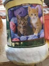 Kitten in Yarn American Heritage Woodland Plush Raschel Throw blanket - £18.22 GBP