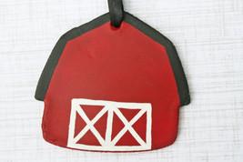 Red Barn Personalized Ornament, Farm Ornament, Barn Ornament, Family Far... - $12.99