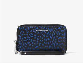 NWT Michael Kors Jet Set Travel Leopard Leather Smartphone Wristlet - $52.37
