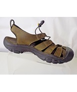 KEEN LEATHER BROWN/TAN TRAIL WOMENS SHOES SIZE 9.5 - $31.67