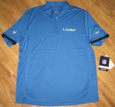 REEBOK PLAY DRY DETROIT LIONS COACHES POLO SHIRT XL - $33.65