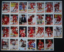 1990-91 Upper Deck UD Calgary Flames Team Set of 27 Hockey Cards - $5.00