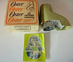 OSTER Very Nice Condition 435 Avocado Ice Crusher Attachment Set Kitchen Center - $29.99