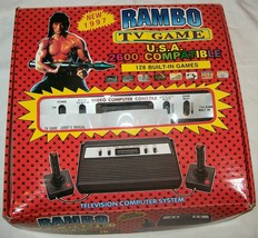 NEW NIB NOS Rambo TV Games Atari 2600 Clone legendary game console 128 Games #07 - $225.00