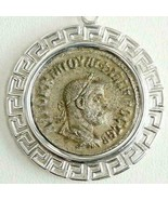 PHILIP I Tetradrachm Large Ancient Roman Coin, in Sterling Pendant & Ste... - $323.10
