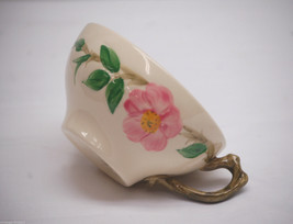 "Old Vintage Desert Rose Backstamp USA by Franciscan 2-1/4"" Flat Cup Pink Roses - $8.90"