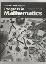 Progress in Mathematics - Student Test Booklet - SC - 2000 - Sadler-Oxford - $1.35