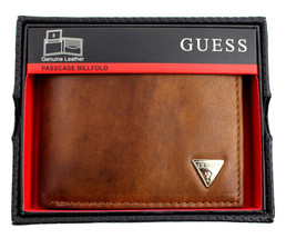 Guess Men's Leather Credit Card Id Multicard Wallet Passcase Bifold 31GU22X017