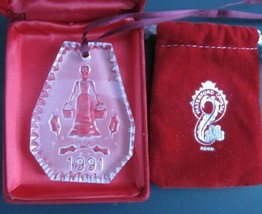 1991 #Waterford glass Christmas ornament decoration 8 maids a Milking - $29.83